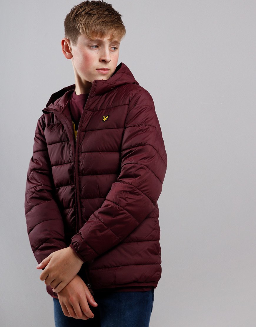 Lyle & Scott Junior Lightweight Puffer Jacket Winetasting