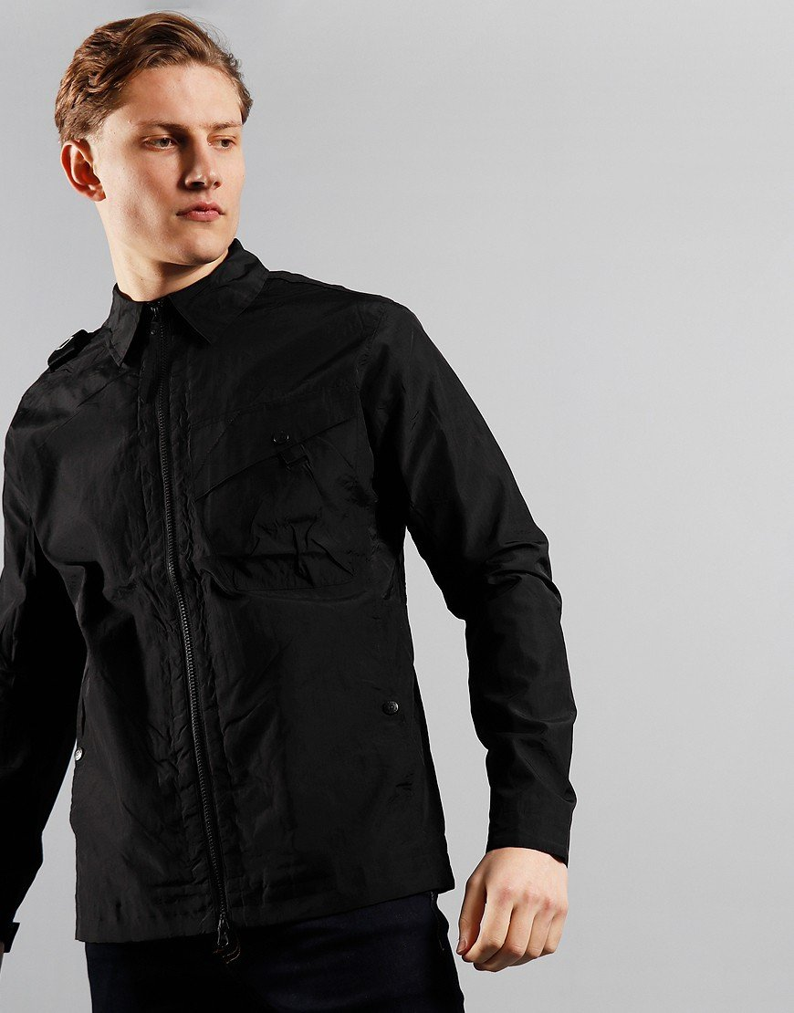MA.Strum NT1 Nylon Taffeta Overshirt Jet Black