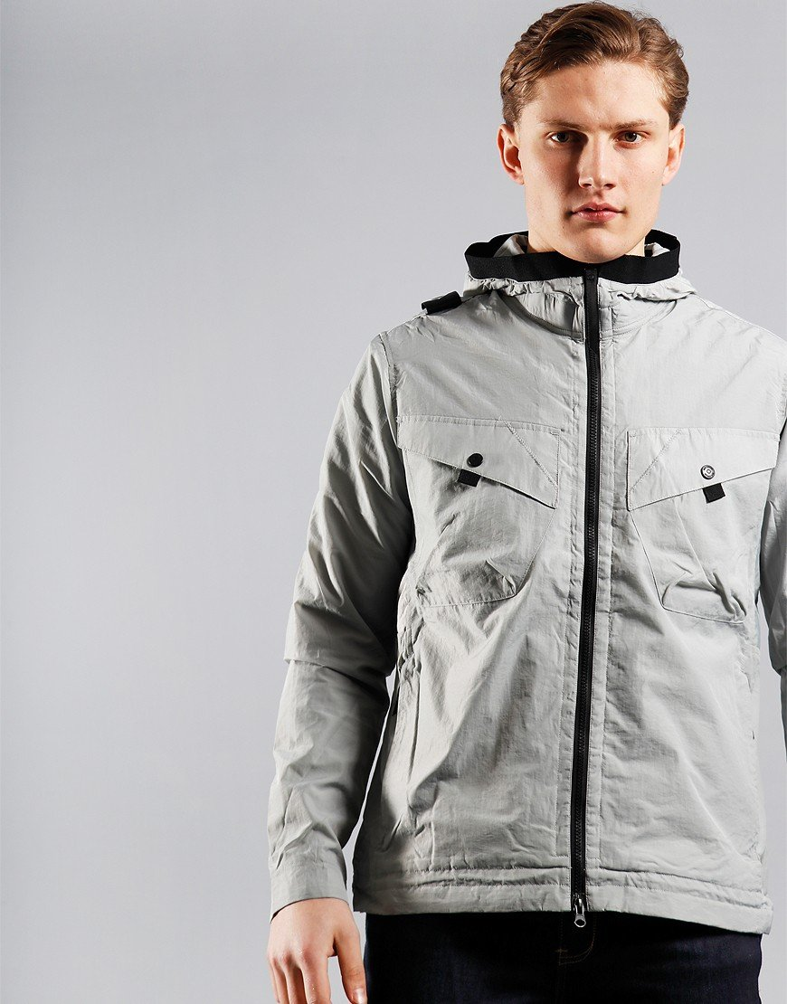 MA.Strum NT2 Nylon Taffeta Hooded Jacket Quicksilver