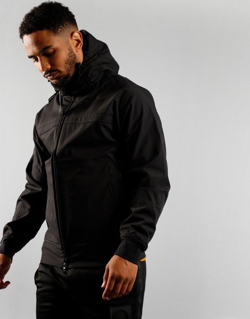 MA.Strum Full Zip Hooded Softshell Jacket Jet Black