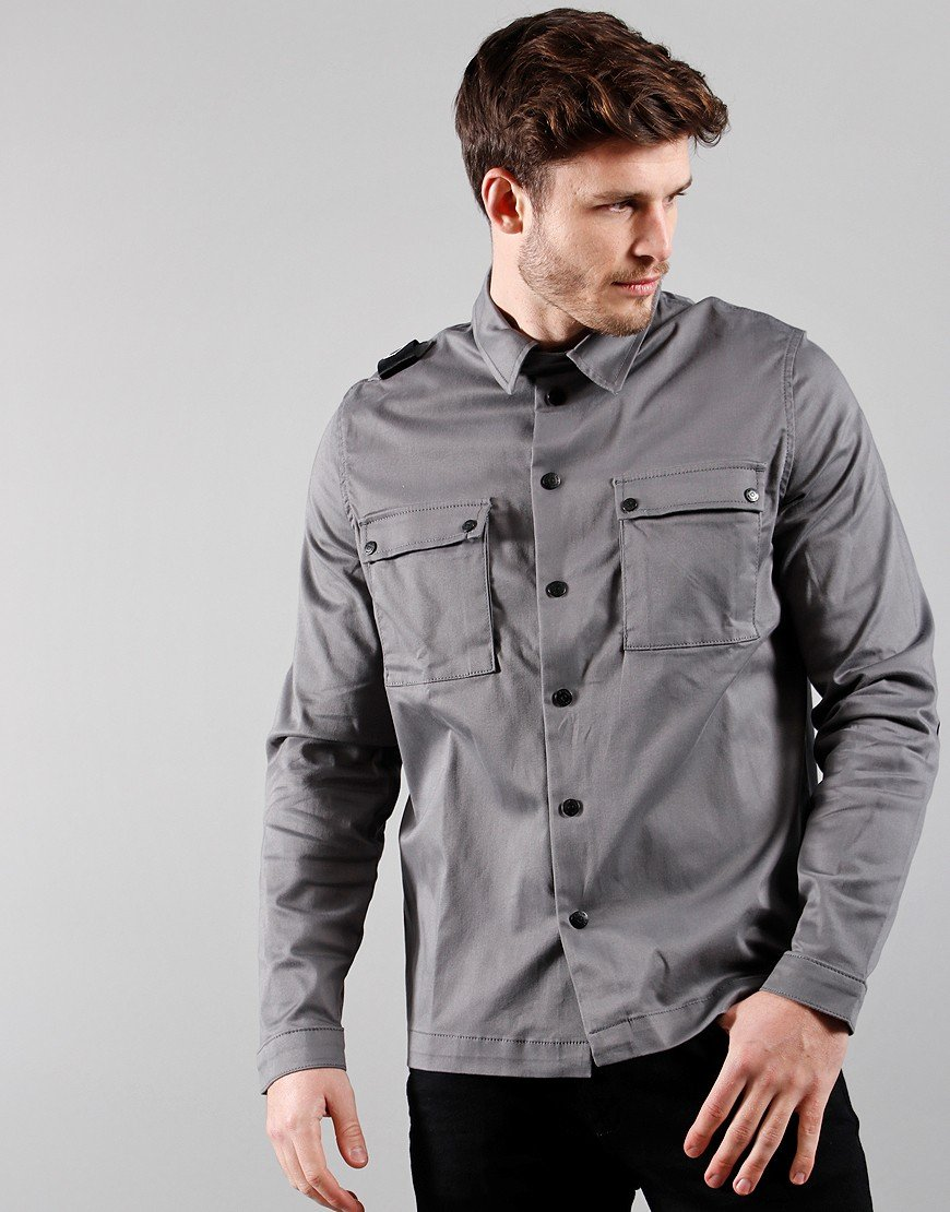 MA.Strum DH 2 Pocket Hooded Overshirt Dark Slate