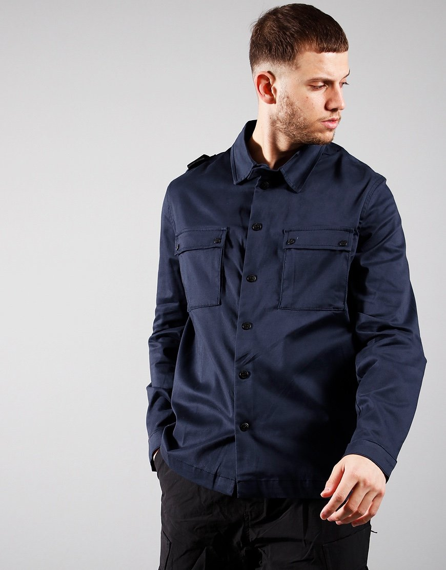 MA.Strum DH 2 Pocket Overshirt Inky Navy