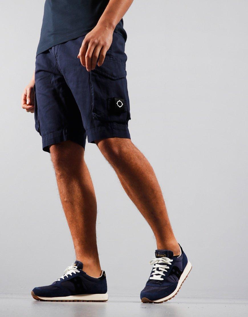 MA.Strum Garment Dyed Cargo Shorts True Navy