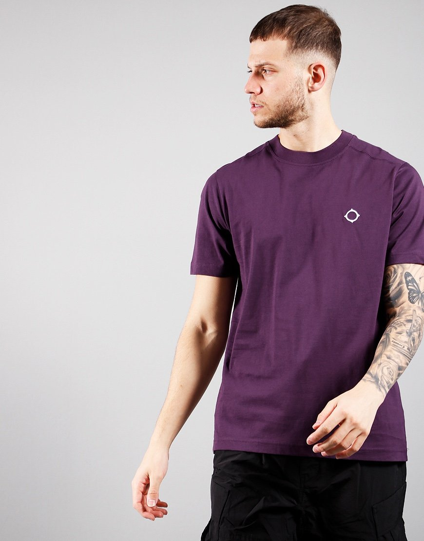 MA.Strum Short Sleeved Icon T-Shirt Aubergine