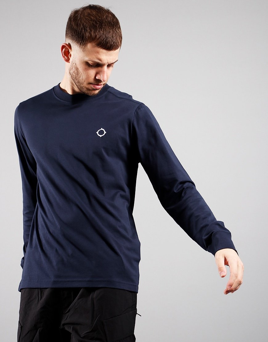 MA.Strum Long Sleeved Icon T-Shirt Ink Navy