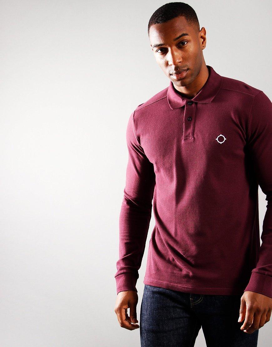 MA.Strum Pique Long Sleeve Polo Shirt Fig