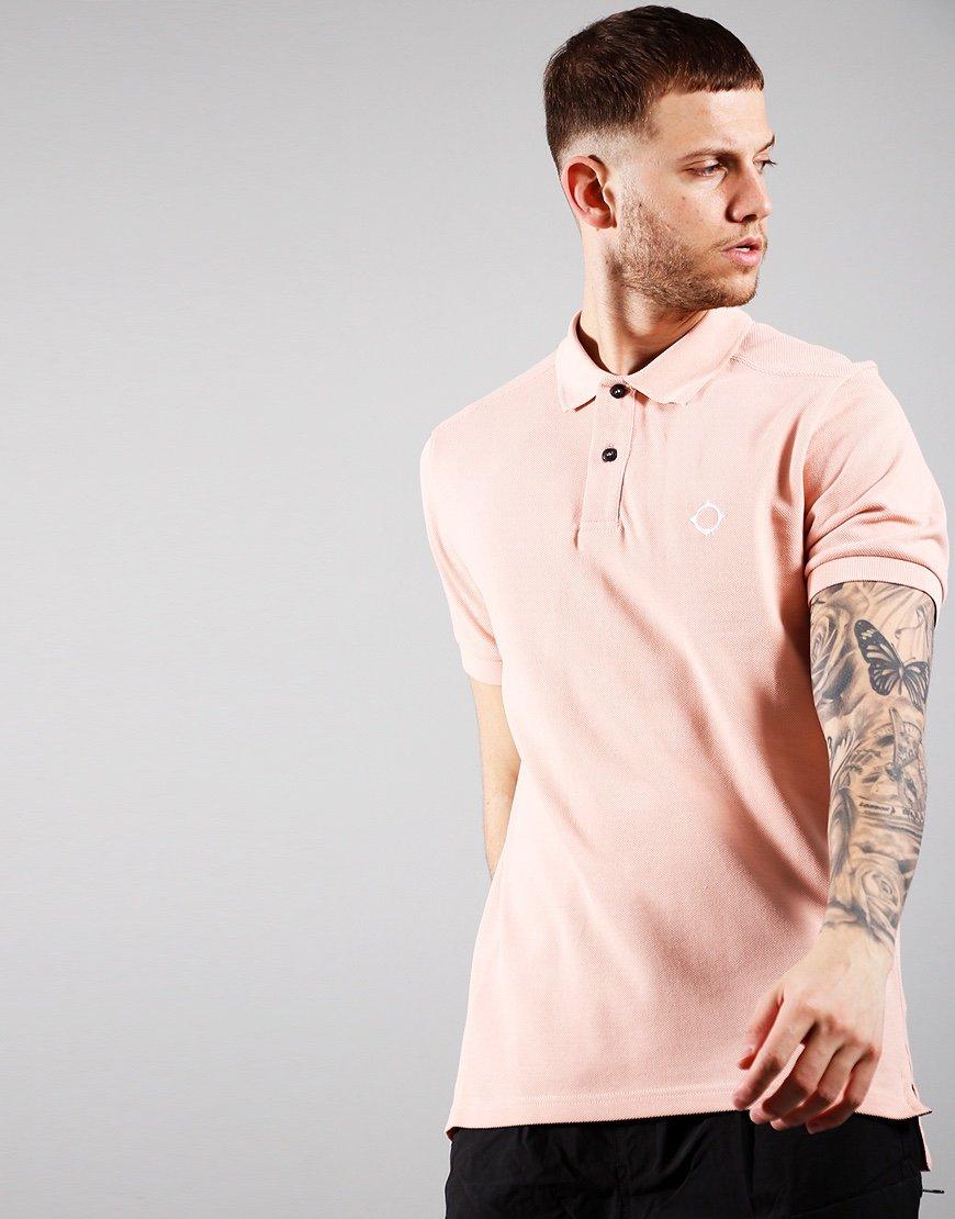 MA.Strum Short Sleeved Pique Polo Shirt Flesh