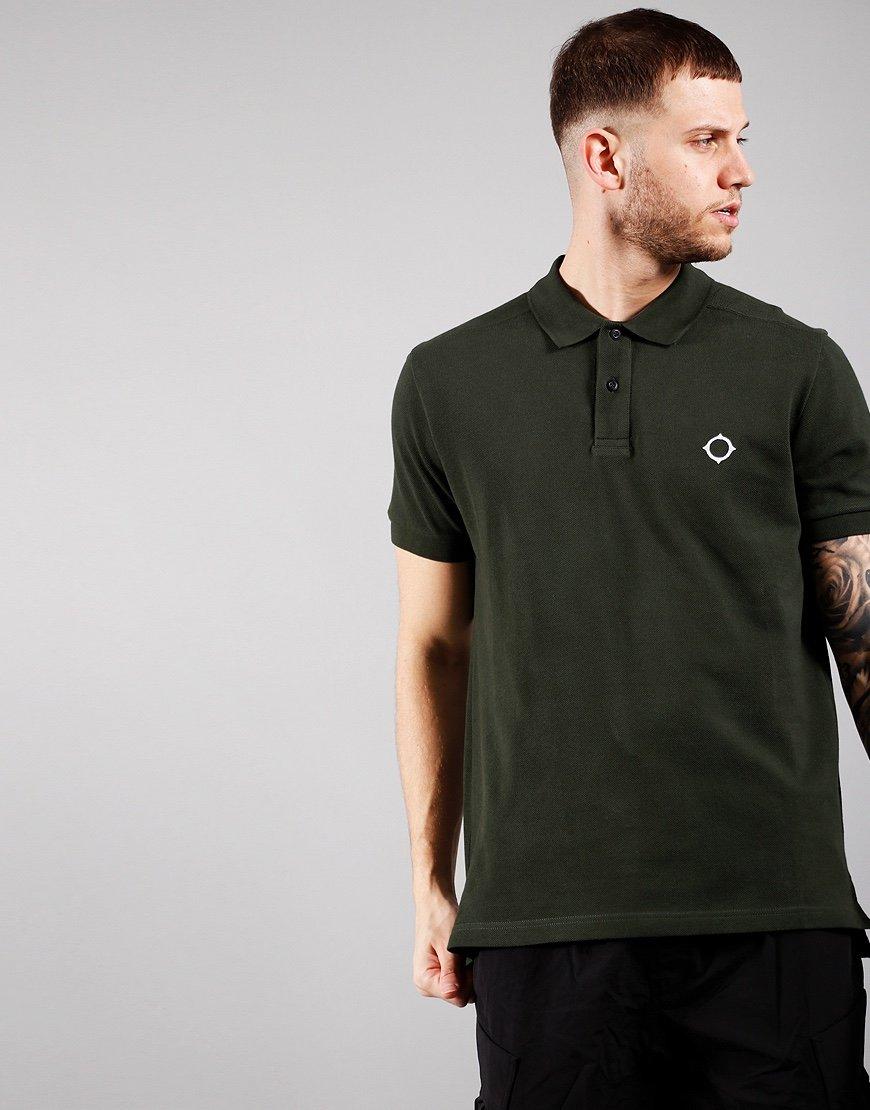 MA.Strum Short Sleeved Pique Polo Shirt Oil Slick