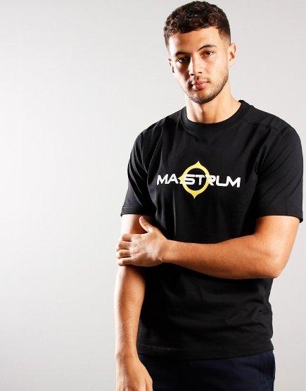 MA.Strum Short Sleeve Logo Tee Jet Black