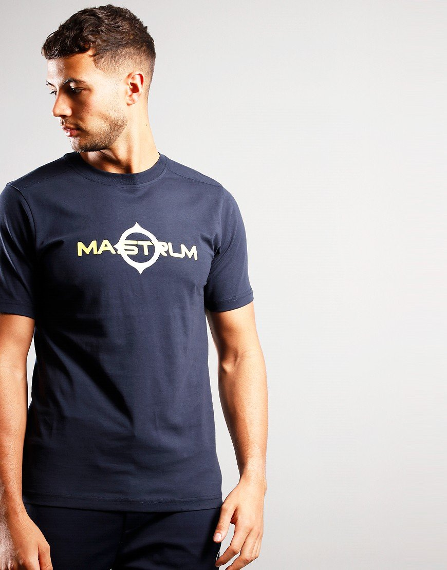 MA.Strum Short Sleeve Logo Tee Ink Navy