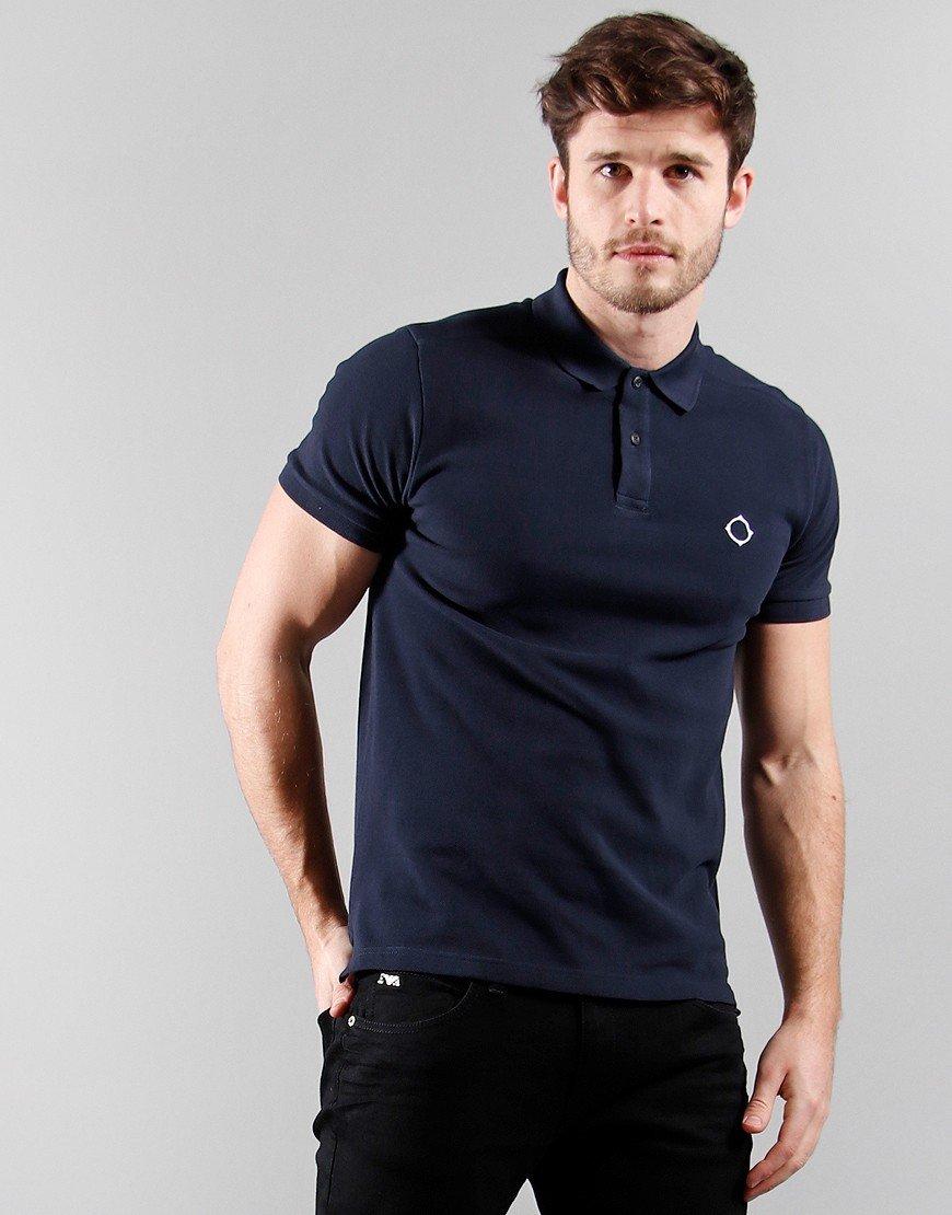 MA.Strum Short Sleeved Pique Polo Shirt Ink Navy