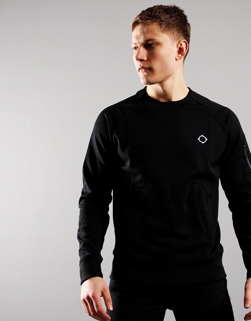 MA.Strum Tech Crew Sweatshirt Black