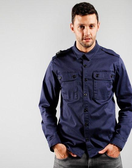 MA.Strum Two Pocket Overshirt True Navy
