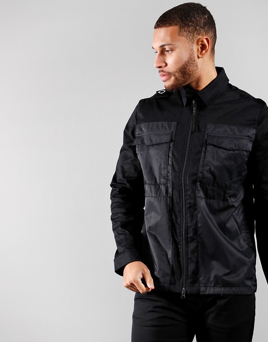 MA. Strum Zip Through Overshirt Jet Black