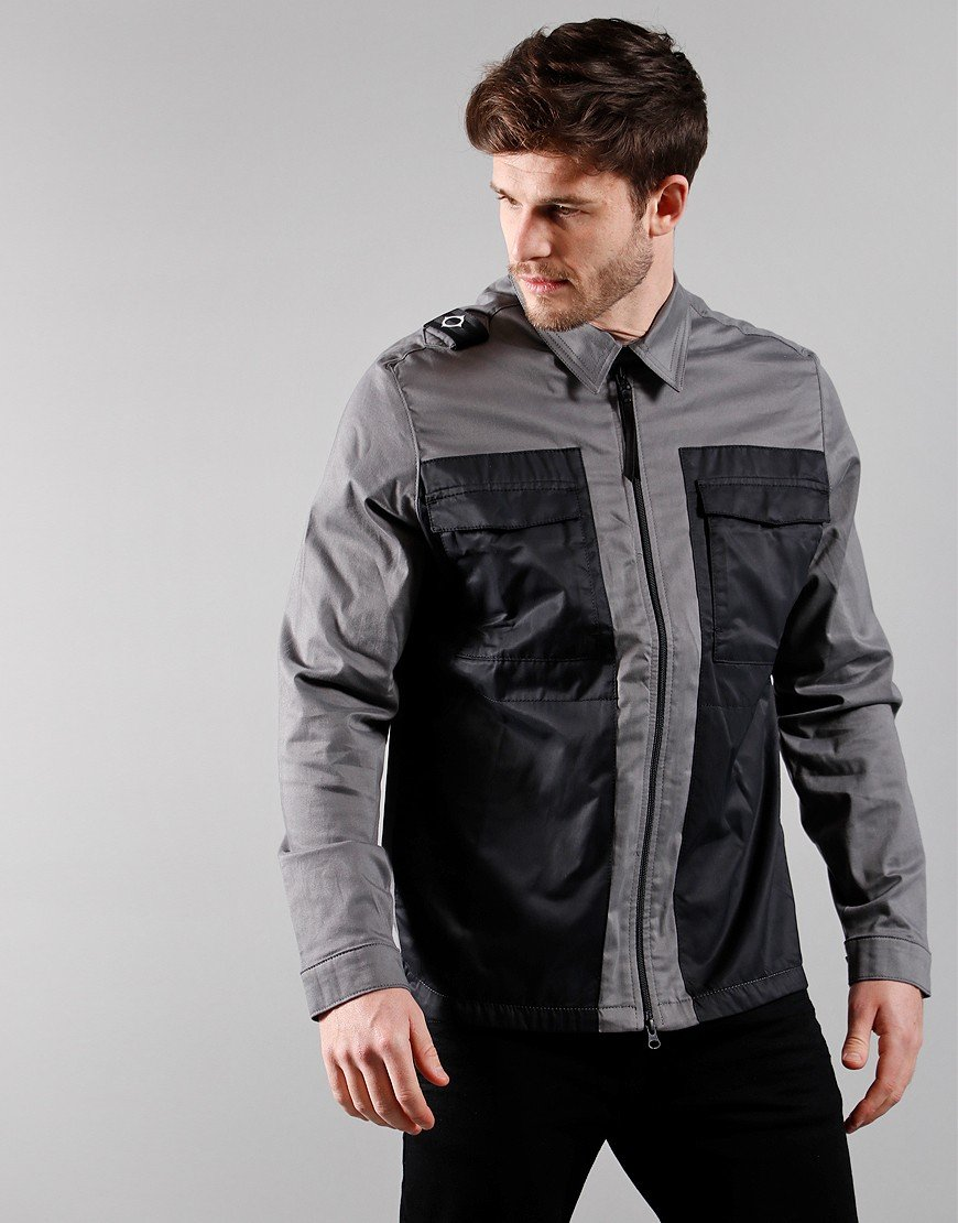 MA. Strum Zip Through Overshirt Dark Slate