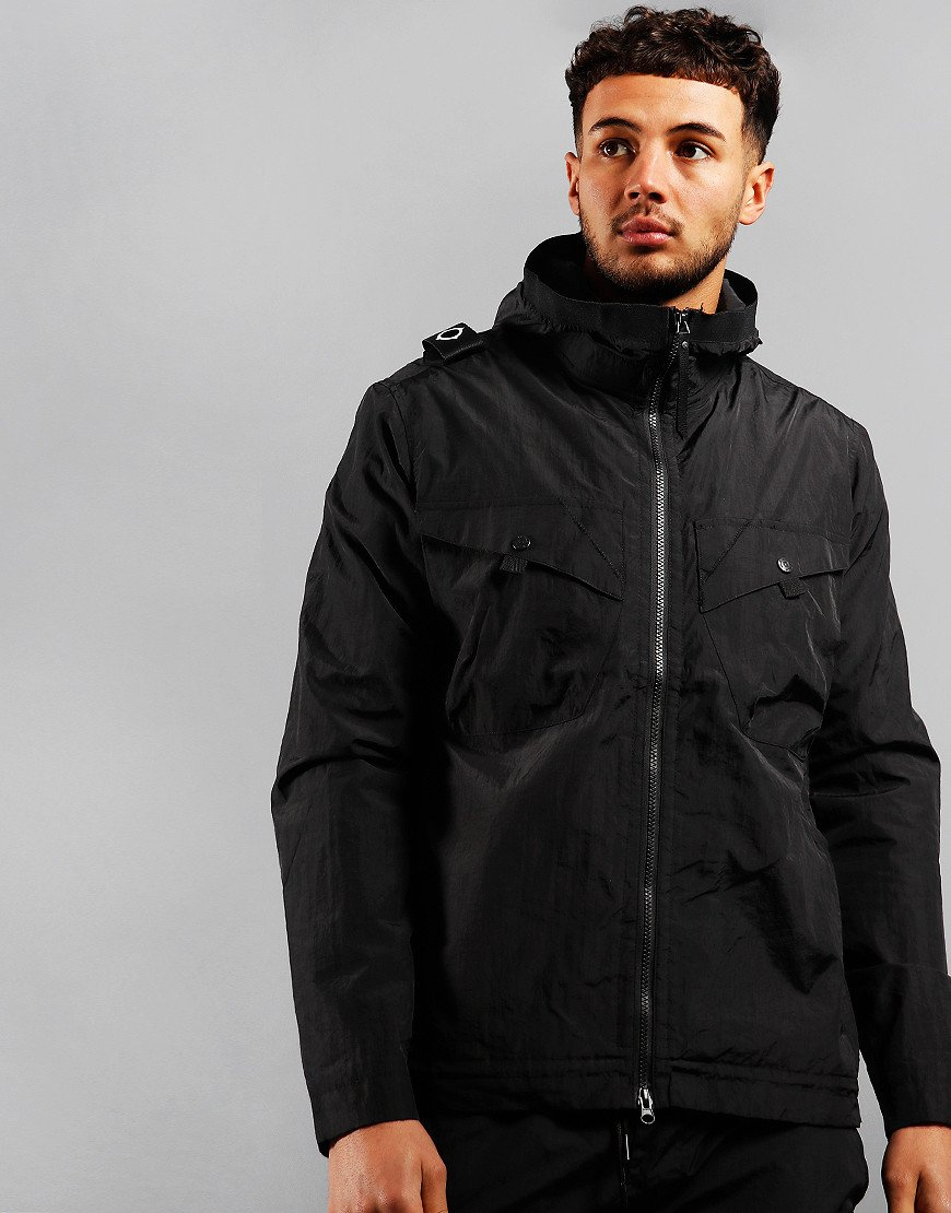 MA.Strum NT2 Nylon Taffeta Hooded Jacket Jet Black