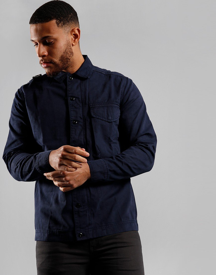 MA.Strum Garment Dyed Overshirt True Navy