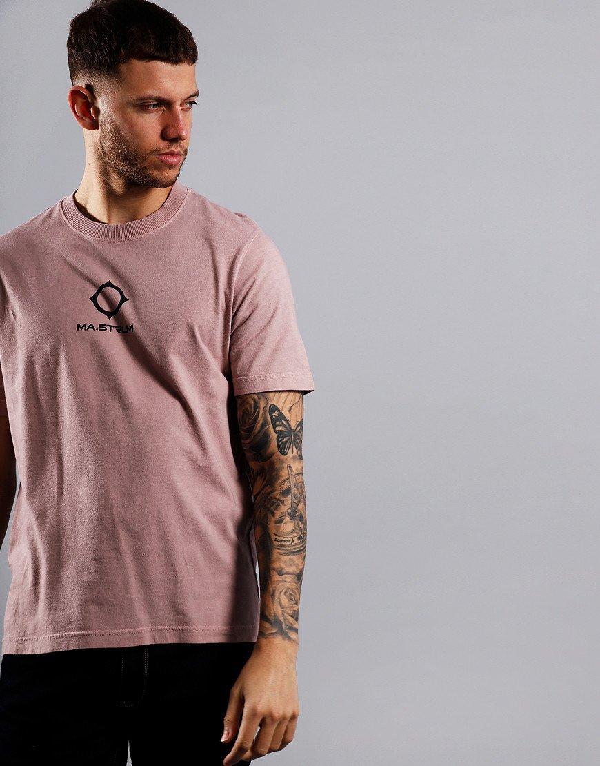 MA.Strum Garment Dyed Logo T-Shirt Cassis