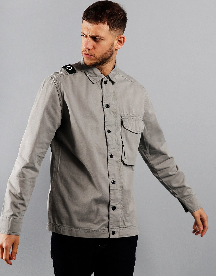 MA.Strum Garment Dyed Overshirt Quicksilver