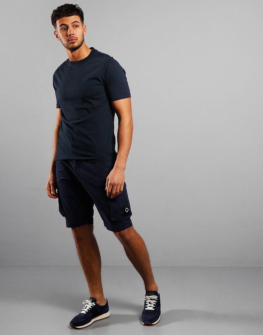 MA.Strum Garment Dyed Logo T-Shirt True Navy