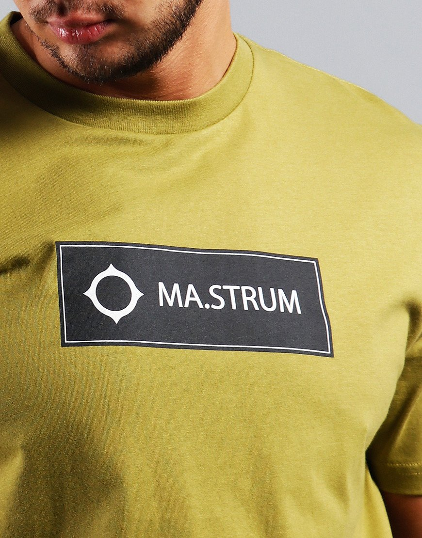MA.Strum Icon Box Print Logo T-Shirt Oasis