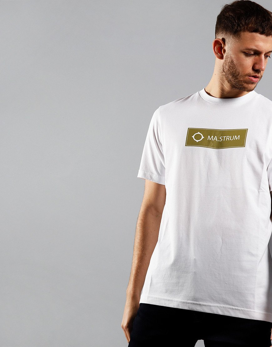 MA.Strum Icon Box Print Logo T-Shirt Optic White/Oasis