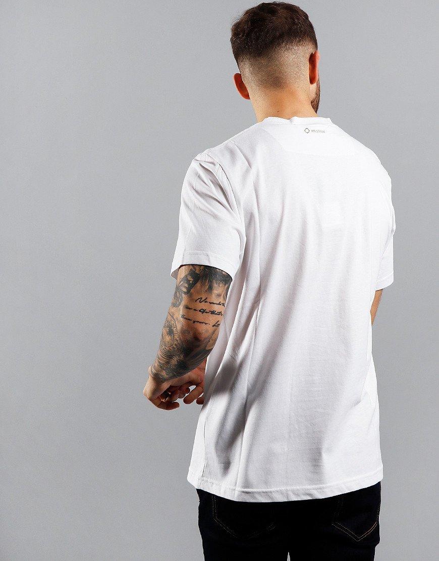 MA.Strum Icon Box Print Logo T-Shirt Optic White/Oasis