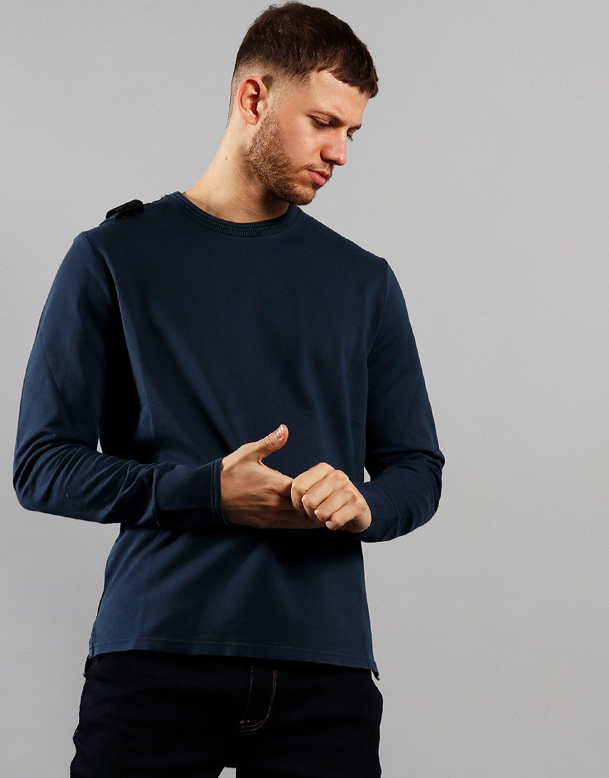 MA.Strum Lightweight Garment Dyed Crew Sweat True Navy