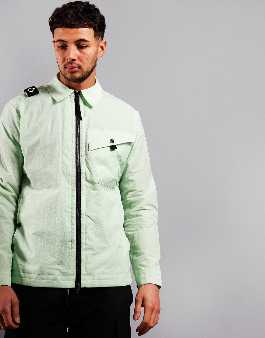 MA.Strum NT1 Nylon Taffeta Overshirt Mint