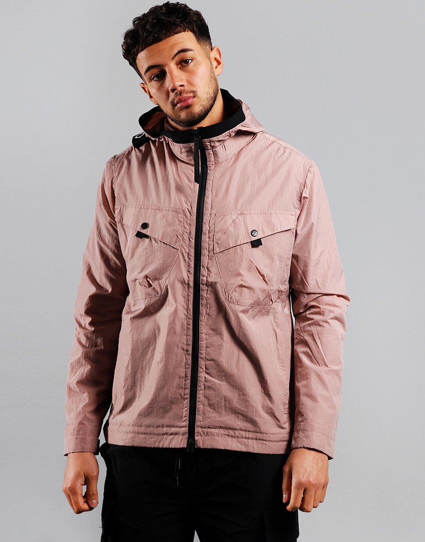 MA.Strum NT2 Nylon Taffeta Hooded Jacket Cassis