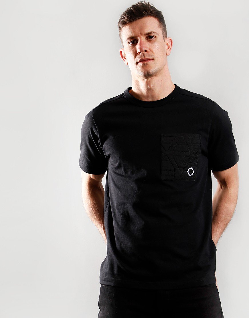 MA.Strum Quilt Pocket T-Shirt Black