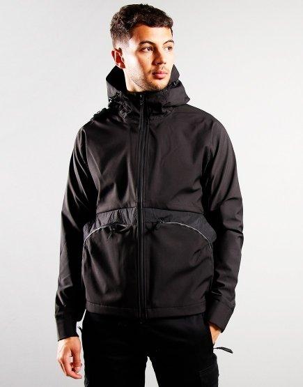 MA.Strum Softshell Hooded Jacket Jet Black