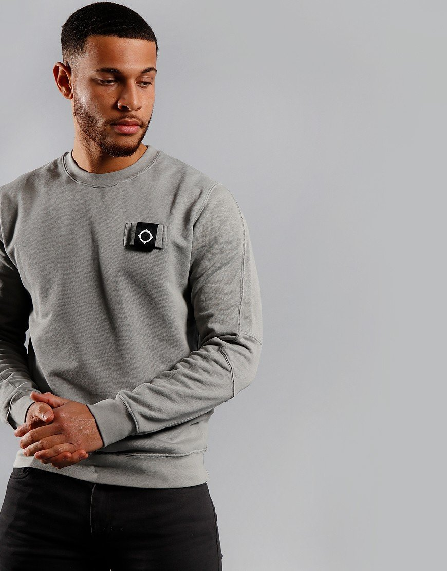 MA.Strum Training Crew Sweat Quicksilver