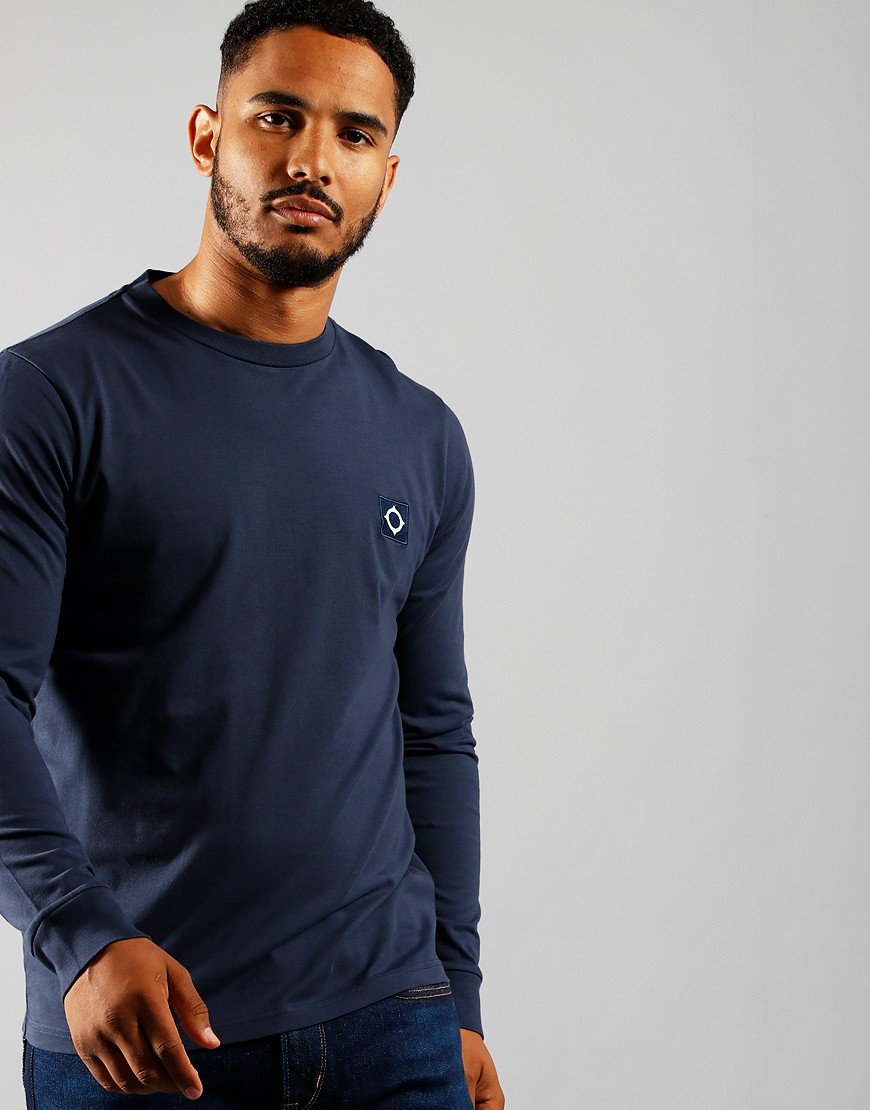 MA.Strum Long Sleeve Icon T-Shirt True Navy