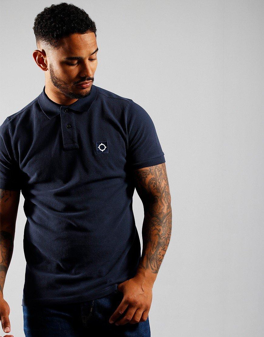 MA.Strum Short Sleeve Pique Polo Shirt True Navy