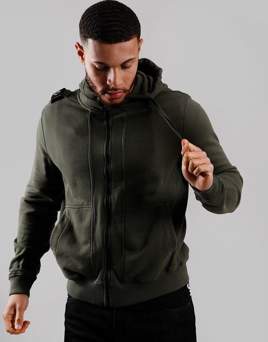 MA.Strum Full Zip Hoodie Dark Khaki Green