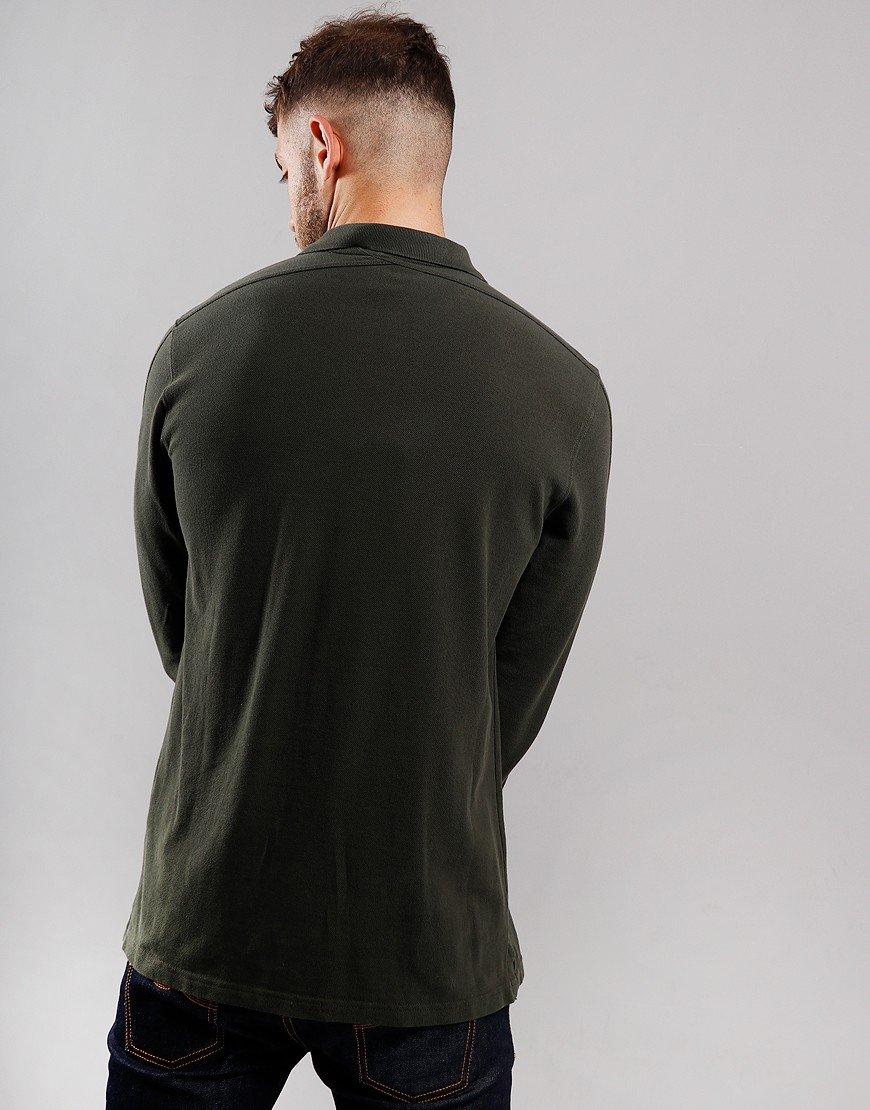 MA.Strum Long Sleeve Pique Polo Shirt Dark Khaki