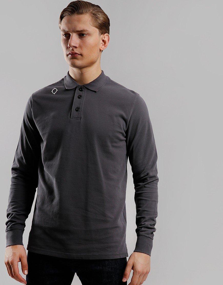 MA.Strum Long Sleeve Piqué Polo Shirt Graphite
