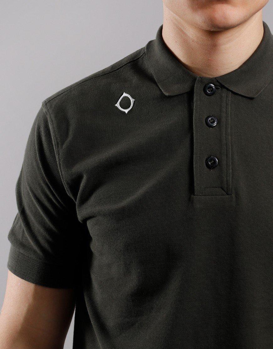 MA.Strum Pique Polo Shirt Dark Khaki Green