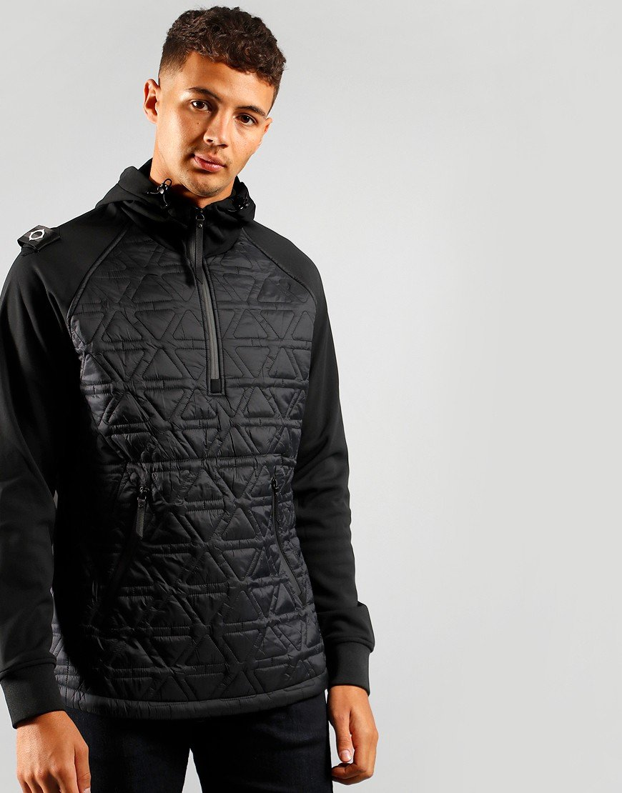 MA.Strum Polygon Quilt Hooded Tech Fleece Jet Black
