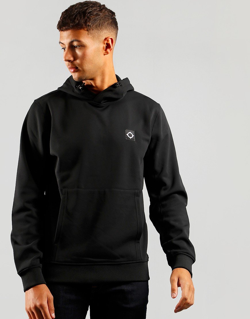 MA.Strum Tech fleece Overhead Hooded Sweat Jet Black