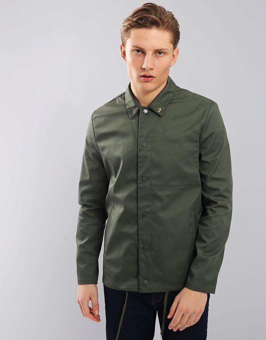 Farah Marr Coach Jacket Military Green