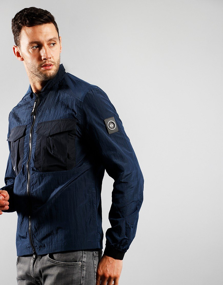 Marshall Artist Acier Overshirt Navy