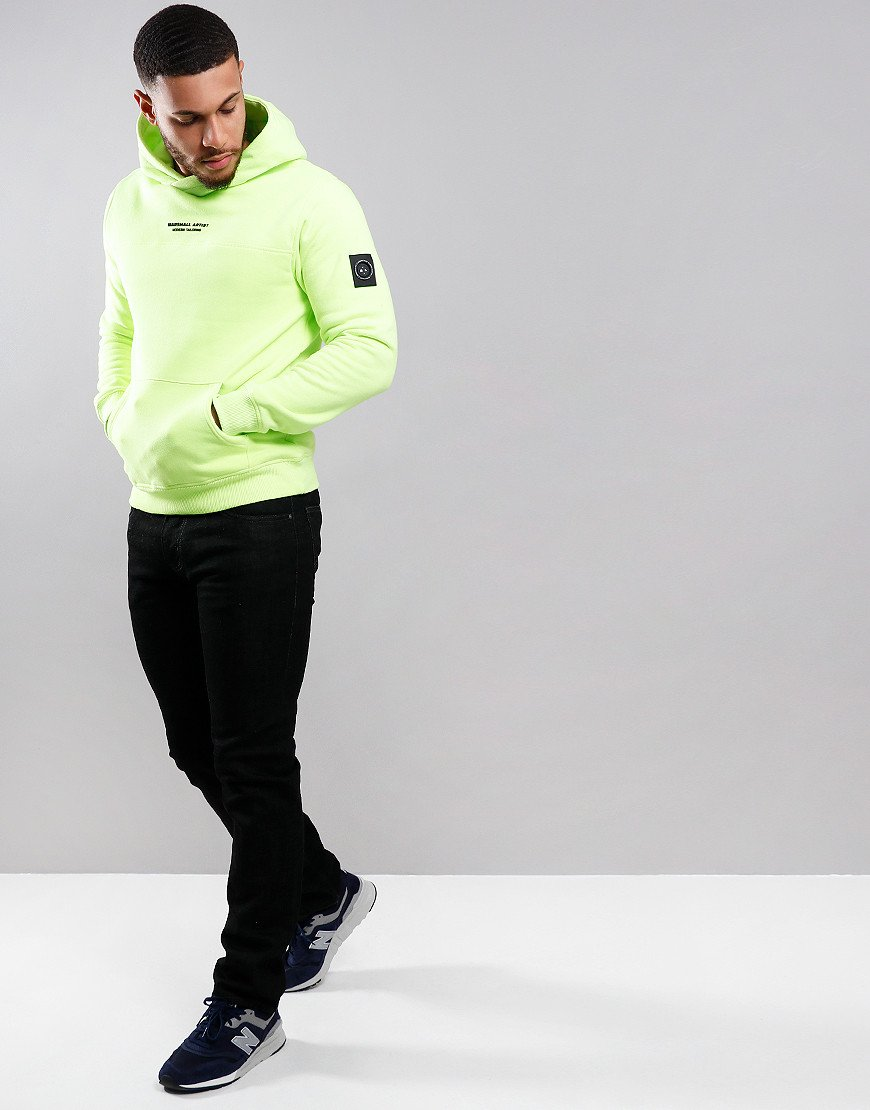 Marshall Artist X Aitch Siren OTH Hooded Sweat Neon Yellow