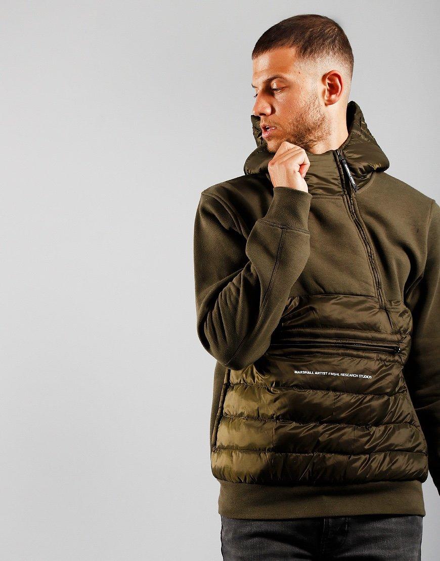 Marshall Artist Alpine Half Zip Jacket Khaki