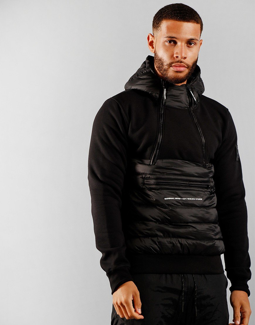 Marshall Artist Alpine Half Zip Jacket Black