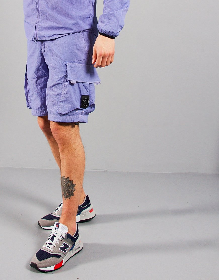 Marshall Artist Garment Dyed Cargo Shorts Lilac