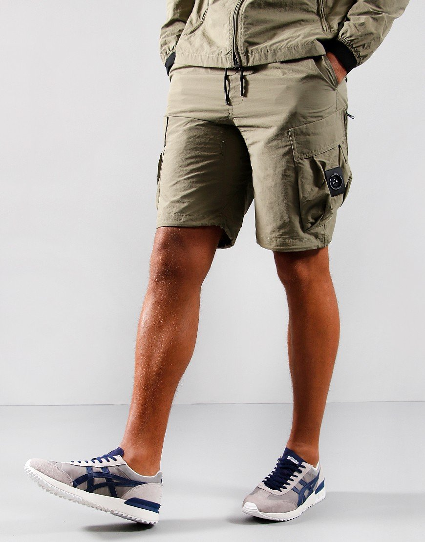 Marshall Artist Cotton Polyamide Shorts Faded Khaki