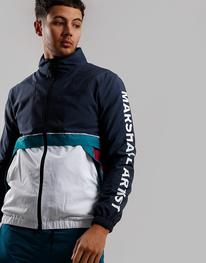 Marshall Artist Colour Block Track Top Navy