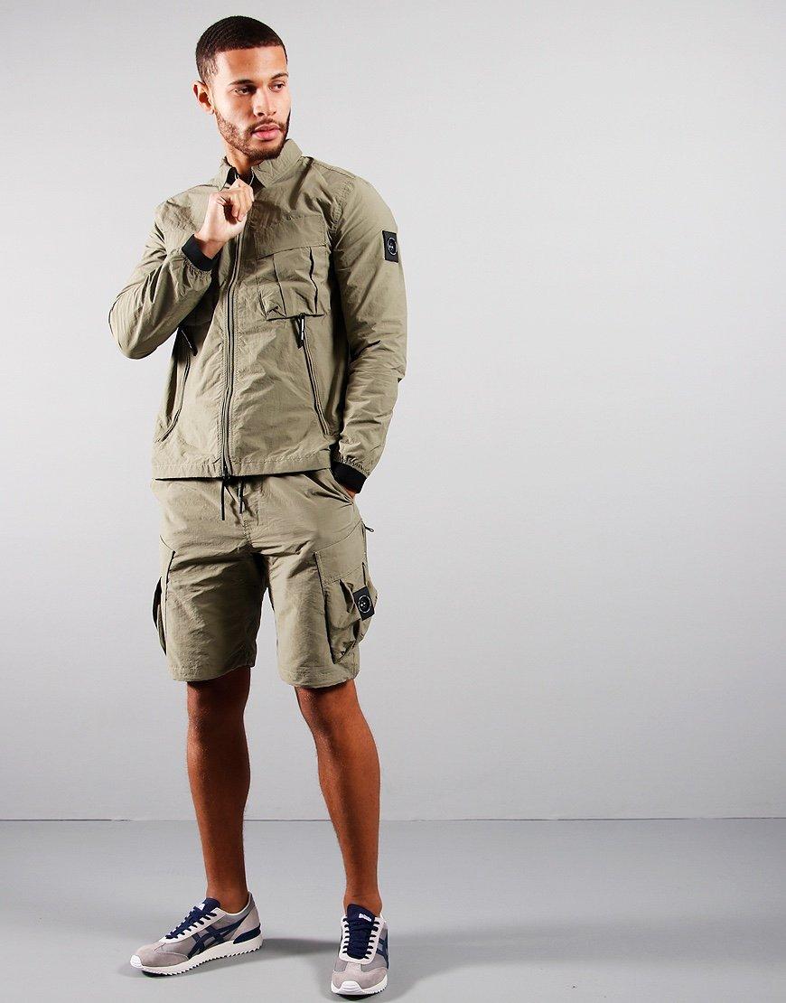 Marshall Artist Cotton Polyamide Overshirt Faded Khaki